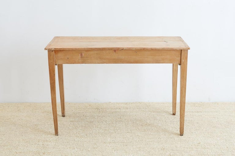 19th Century American Pine Writing Table Desk For Sale 3