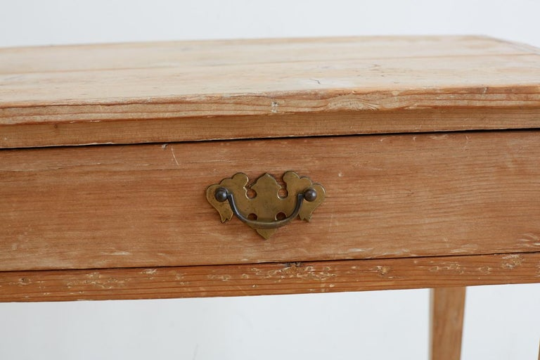 19th Century American Pine Writing Table Desk For Sale 4
