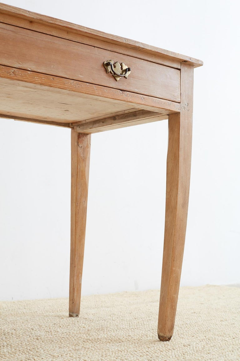 19th Century American Pine Writing Table Desk For Sale 5
