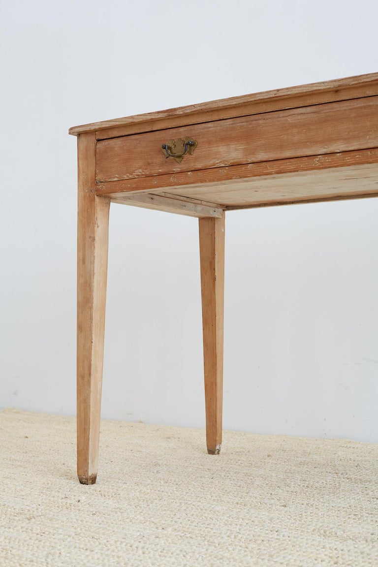19th Century American Pine Writing Table Desk For Sale 6