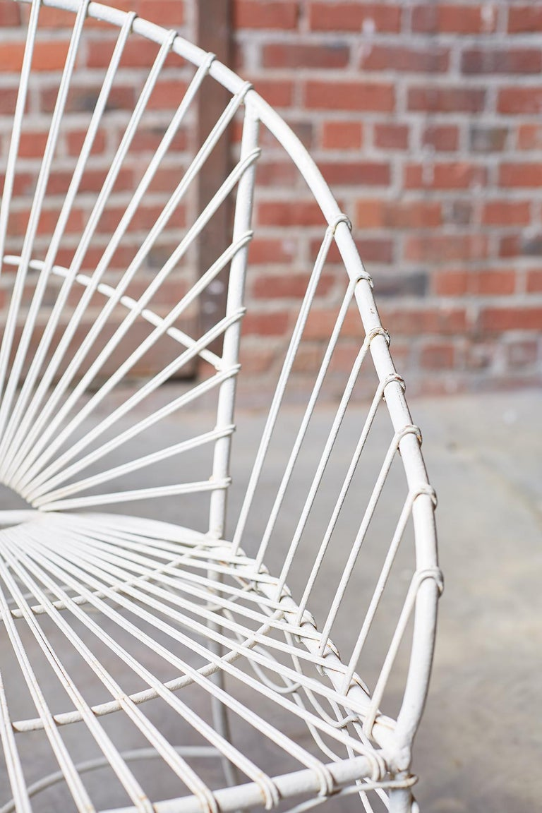 Set of Six French Iron and Wire Garden Chairs For Sale 7