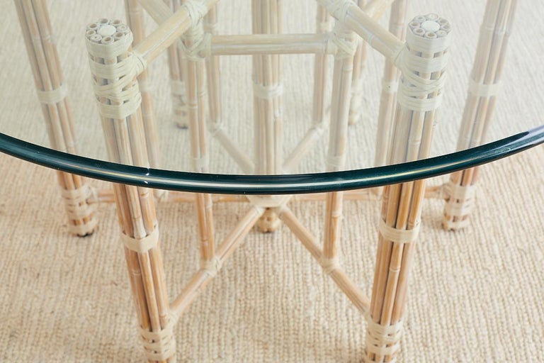 McGuire Organic Bamboo Garden Dining Table For Sale 1