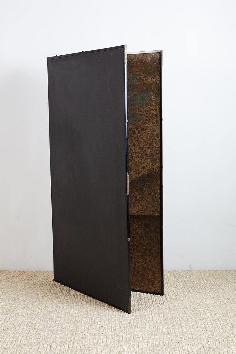 Japanese Two-Panel Showa Period Screen of Sika Deer For Sale 8