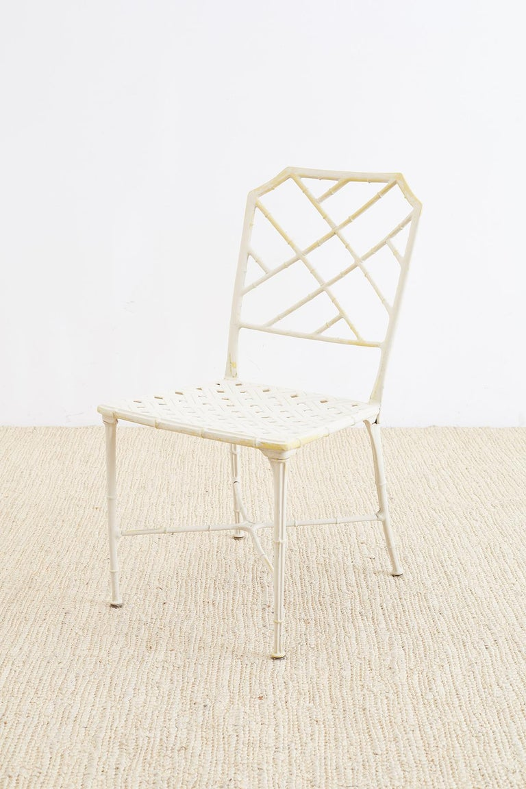 Brown Jordan Calcutta Faux Bamboo Garden Chairs For Sale 1