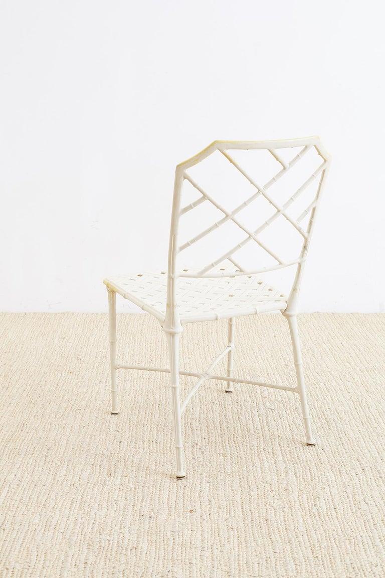 Brown Jordan Calcutta Faux Bamboo Garden Chairs For Sale 3