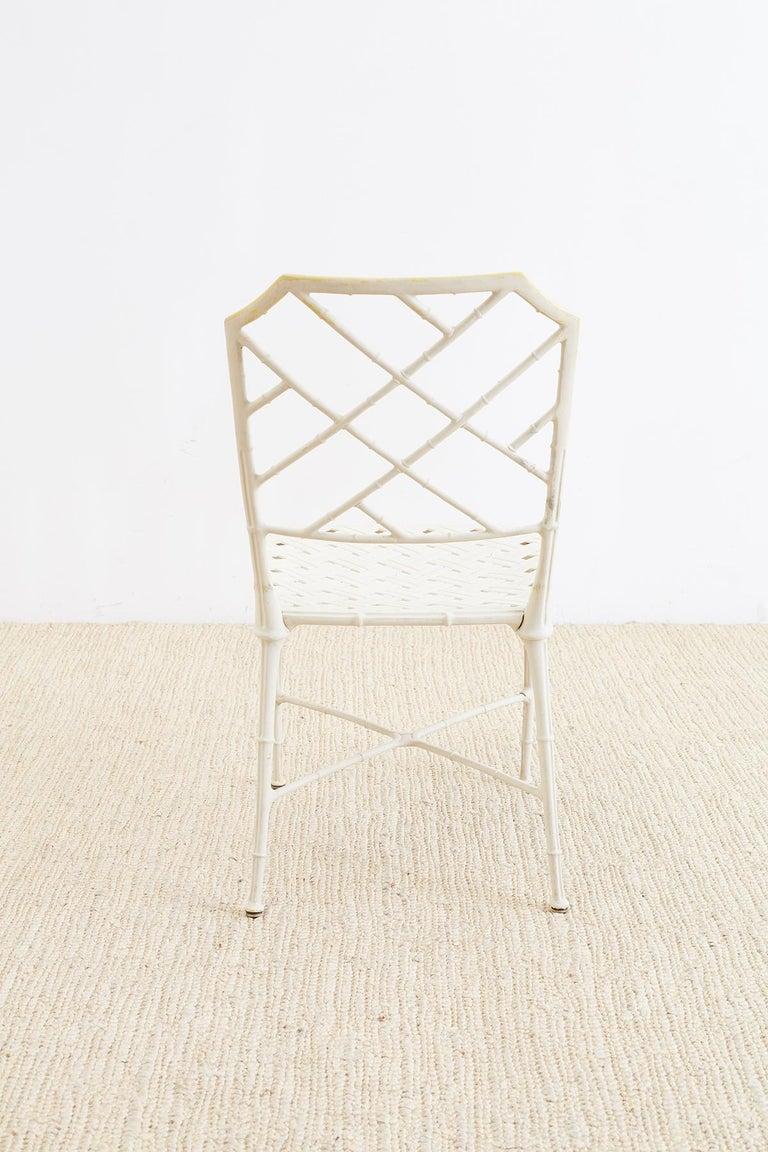 Brown Jordan Calcutta Faux Bamboo Garden Chairs For Sale 4