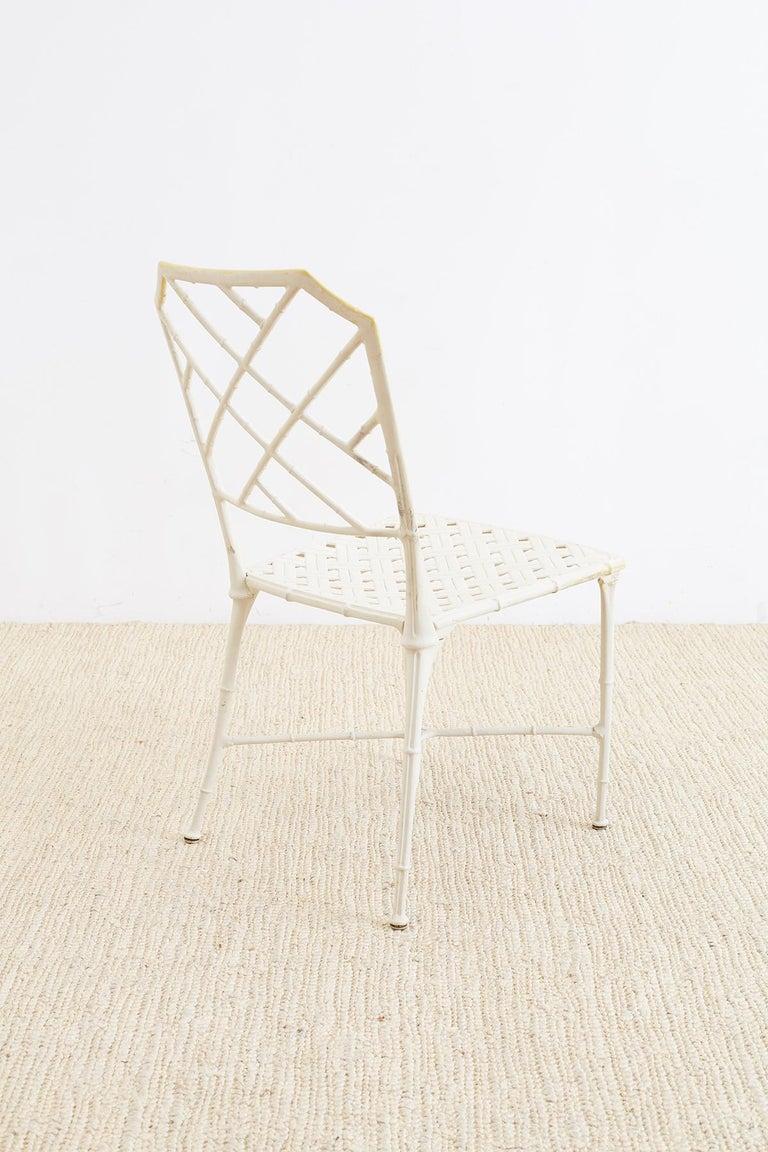 Brown Jordan Calcutta Faux Bamboo Garden Chairs For Sale 5