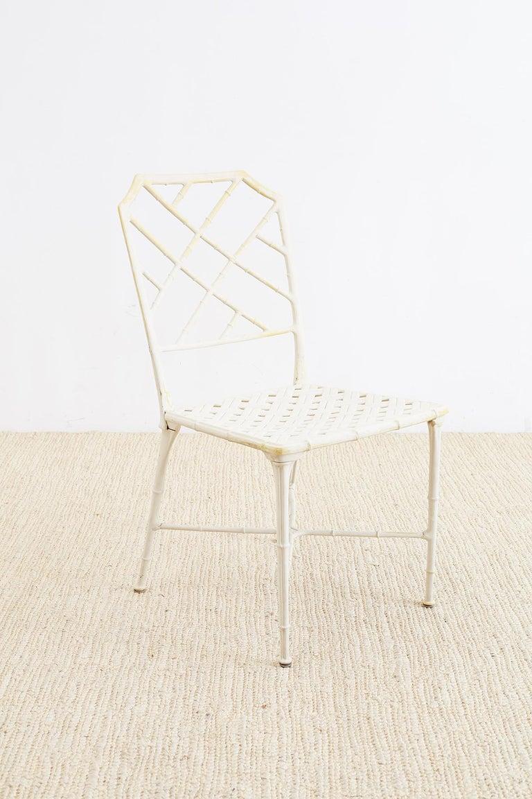 Brown Jordan Calcutta Faux Bamboo Garden Chairs For Sale 6