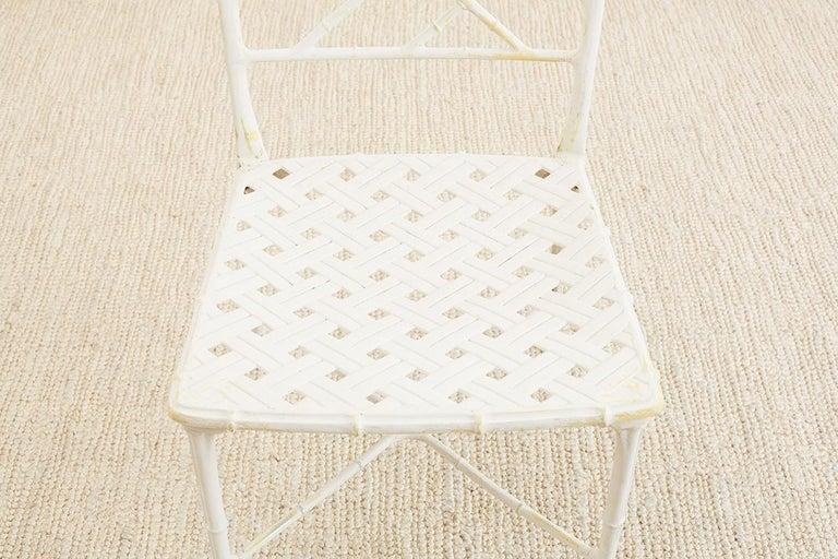 Brown Jordan Calcutta Faux Bamboo Garden Chairs For Sale 7
