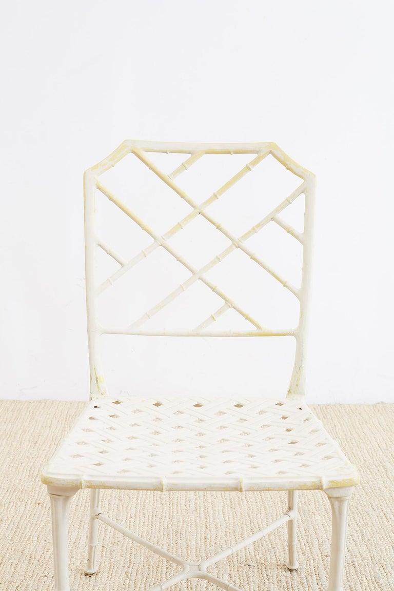 Brown Jordan Calcutta Faux Bamboo Garden Chairs For Sale 8