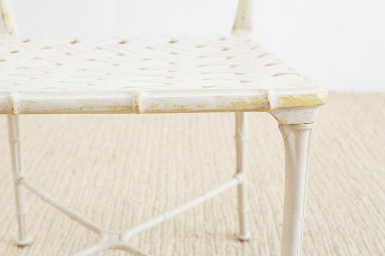 Brown Jordan Calcutta Faux Bamboo Garden Chairs For Sale 11