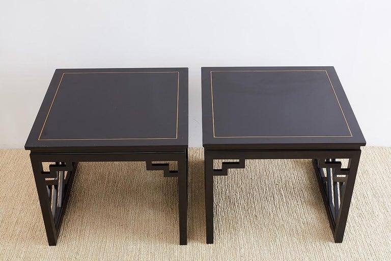 Carleton Varney for Kindel Lacquered Trellis Tables For Sale 9