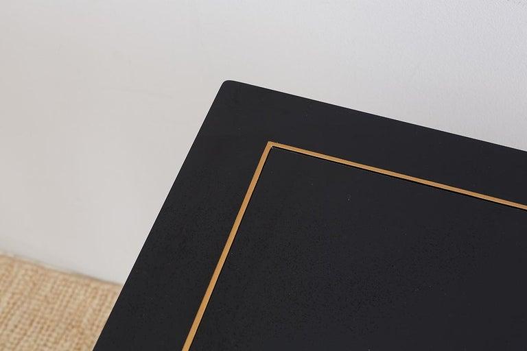 Carleton Varney for Kindel Lacquered Trellis Tables For Sale 4