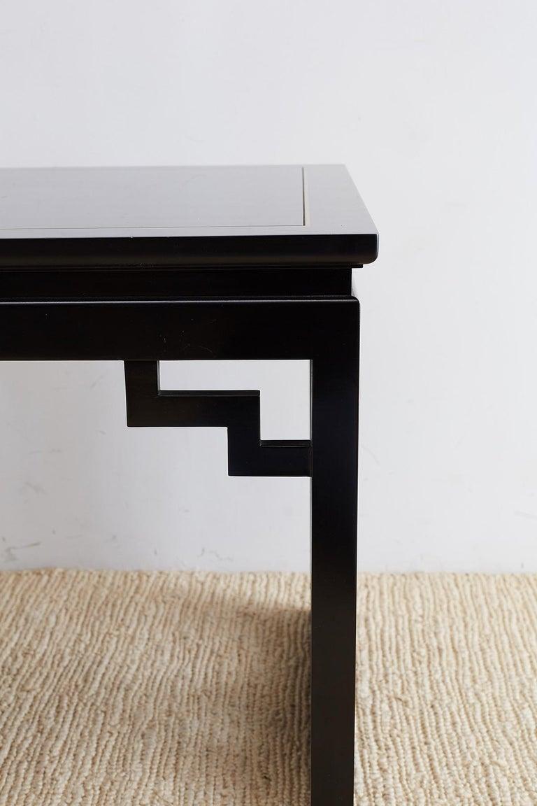 Carleton Varney for Kindel Lacquered Trellis Tables For Sale 2