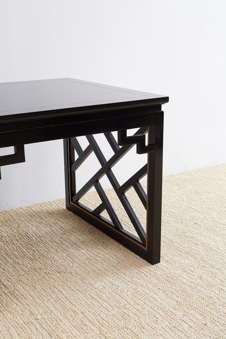 Carleton Varney for Kindel Lacquered Trellis Tables For Sale 7