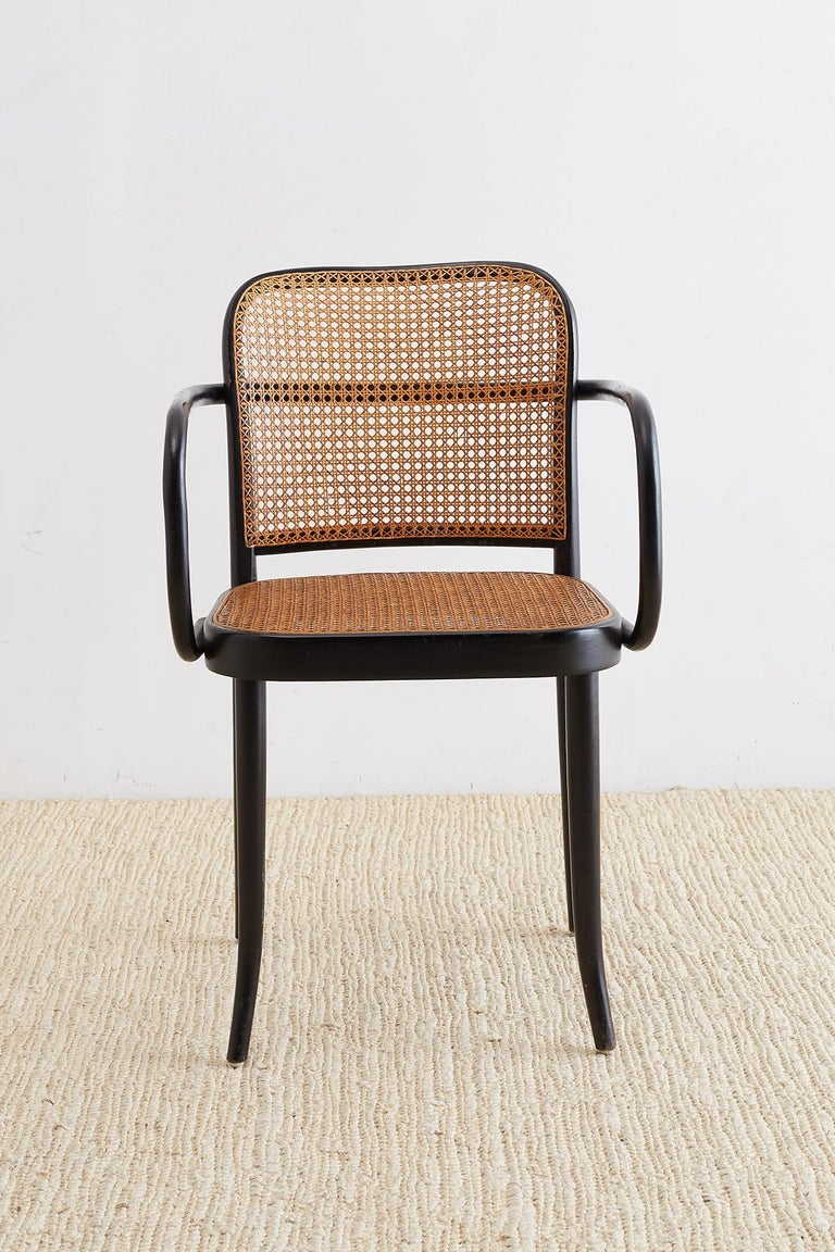 Josef Hoffman for Stendig Black Bentwood Prague Chairs In Good Condition For Sale In Oakland, CA