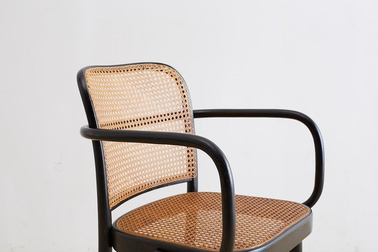 Josef Hoffman for Stendig Black Bentwood Prague Chairs For Sale 3