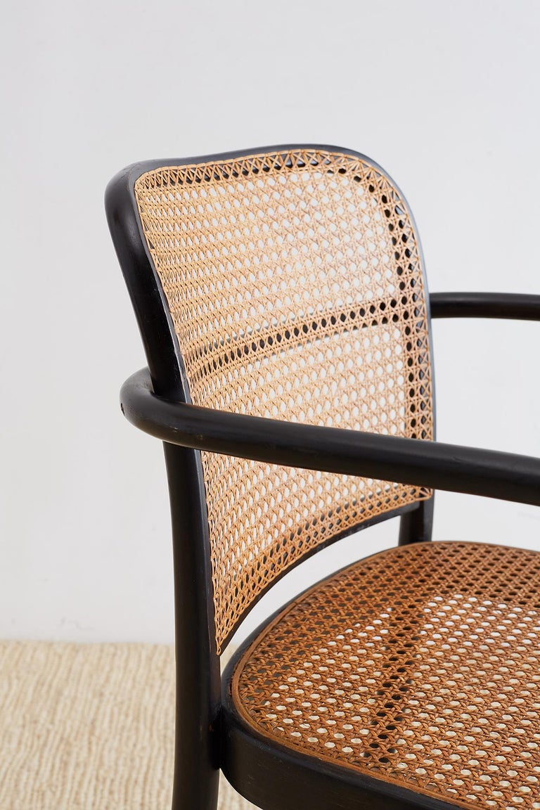 Josef Hoffman for Stendig Black Bentwood Prague Chairs For Sale 4