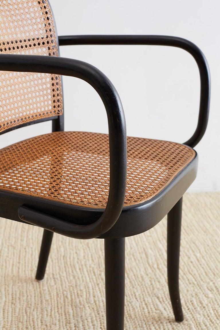 Josef Hoffman for Stendig Black Bentwood Prague Chairs For Sale 5