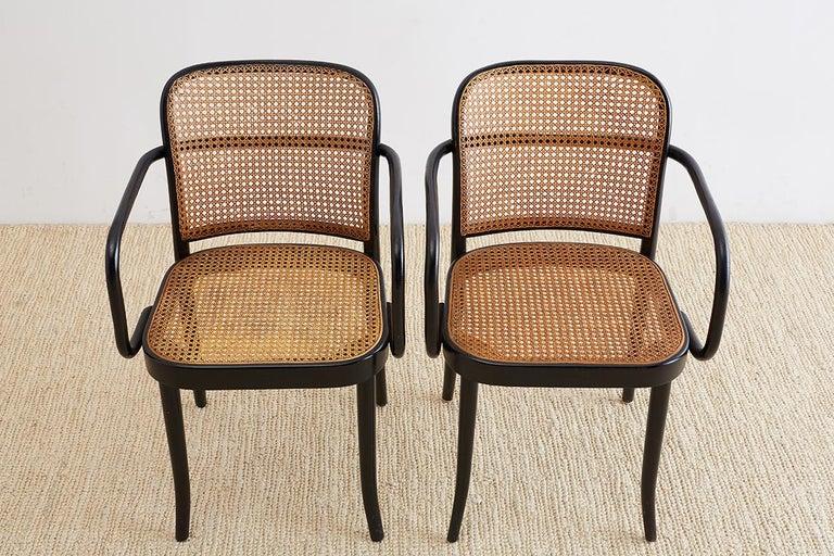 Josef Hoffman for Stendig Black Bentwood Prague Chairs For Sale 2