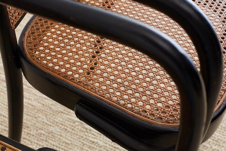 Josef Hoffman for Stendig Black Bentwood Prague Chairs For Sale 10