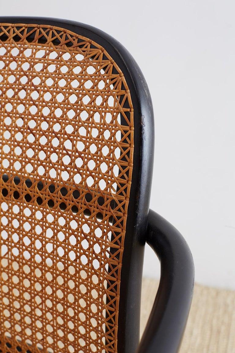 Josef Hoffman for Stendig Black Bentwood Prague Chairs For Sale 11