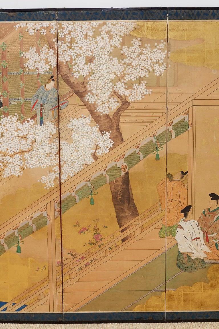 Japanese Edo Period Kano School Six Panel Screen For Sale 2