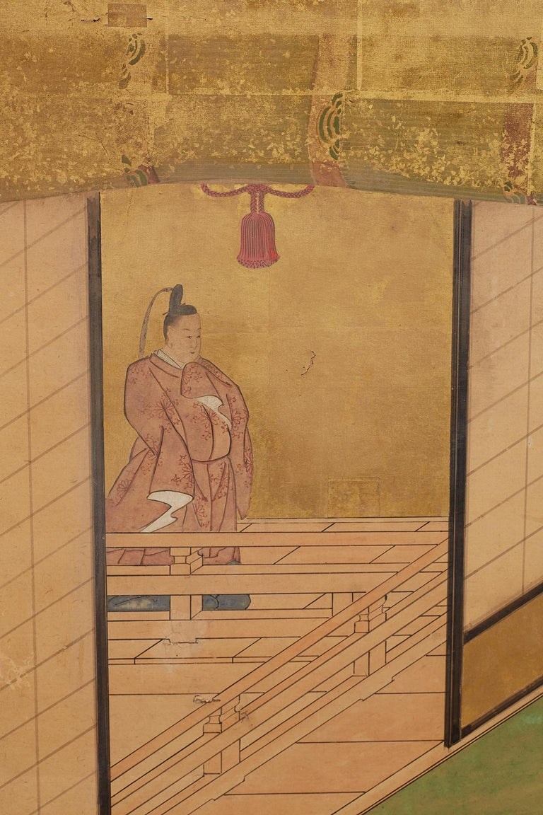 Japanese Edo Period Kano School Six Panel Screen For Sale 3