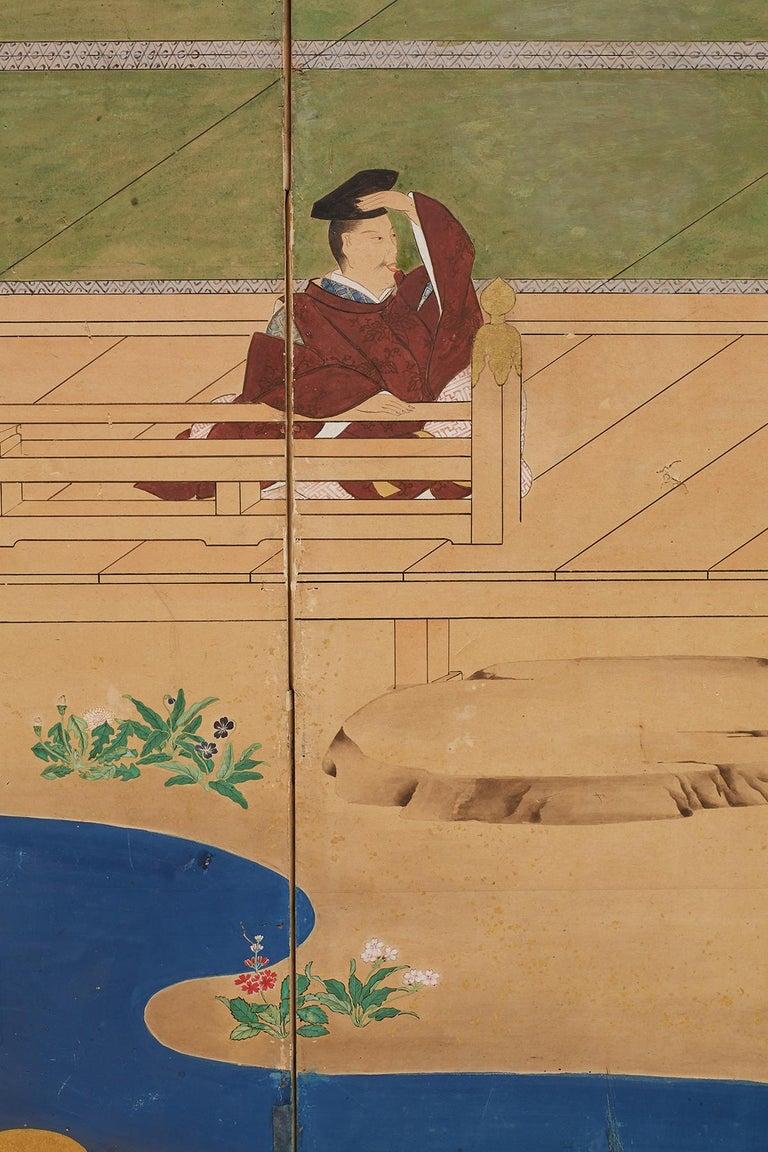 Japanese Edo Period Kano School Six Panel Screen For Sale 4