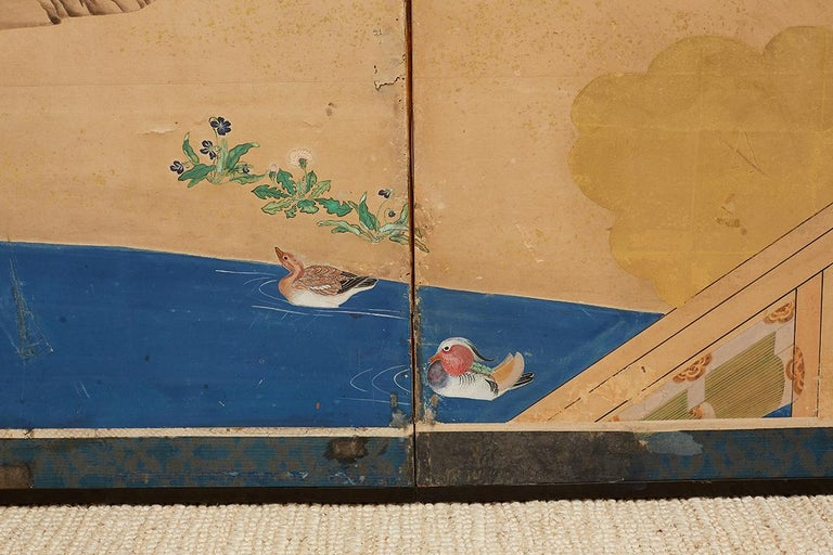 Japanese Edo Period Kano School Six Panel Screen For Sale 6
