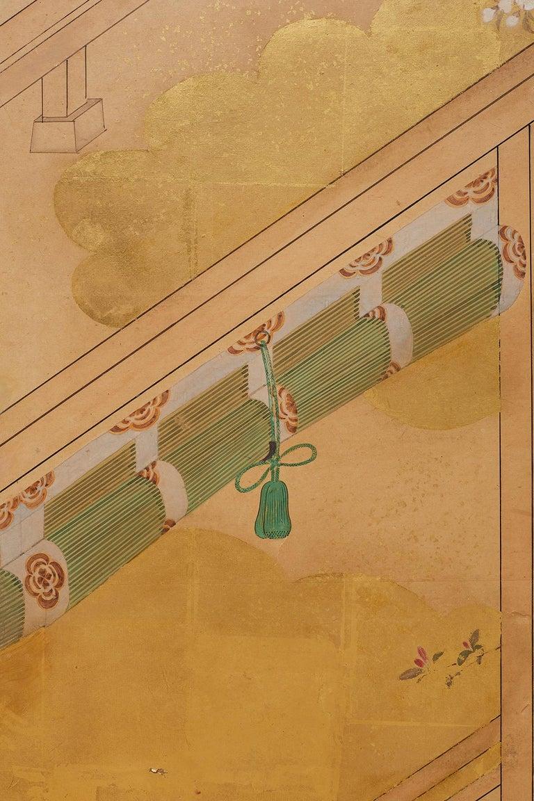 Japanese Edo Period Kano School Six Panel Screen For Sale 9