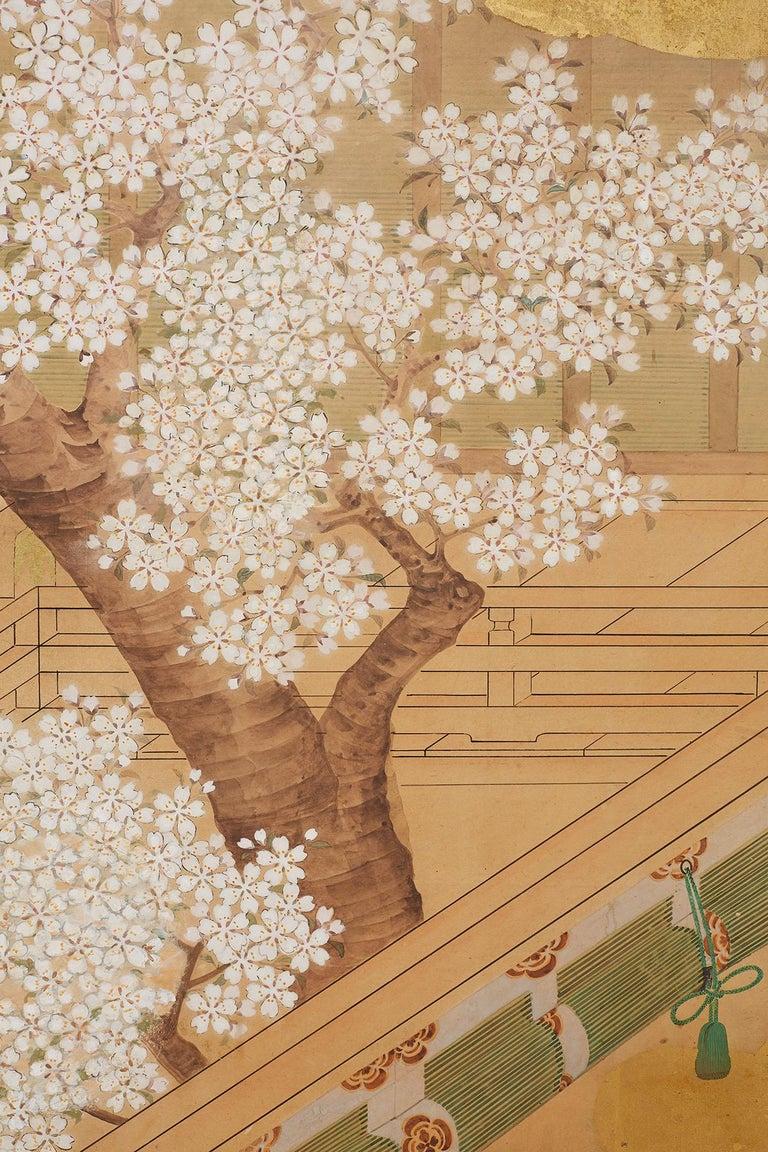 Japanese Edo Period Kano School Six Panel Screen For Sale 10