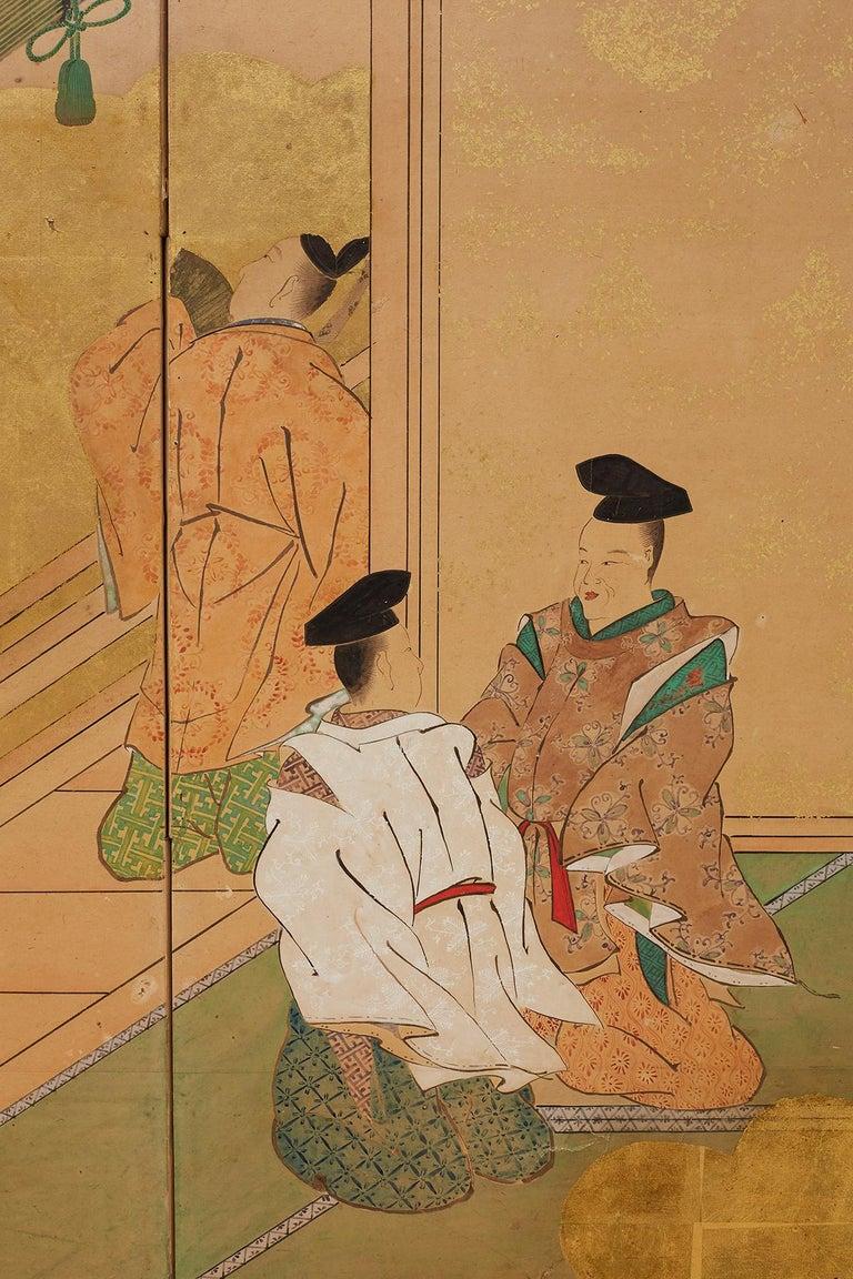 Japanese Edo Period Kano School Six Panel Screen For Sale 11
