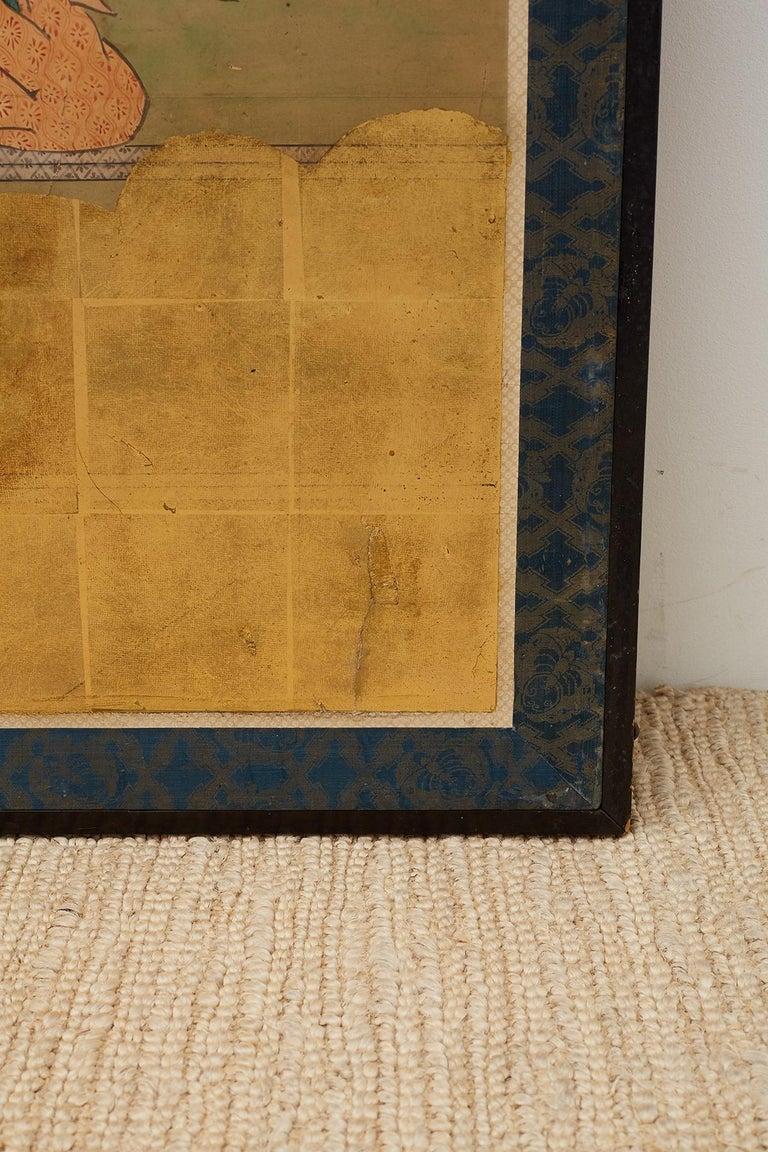 Japanese Edo Period Kano School Six Panel Screen For Sale 12