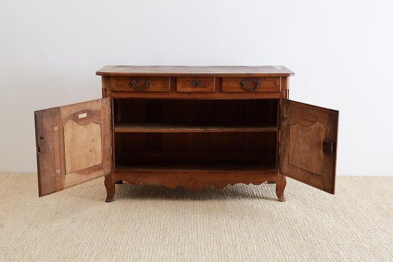 18th Century Louis XV Walnut Vaisselier Buffet Sideboard For Sale 6