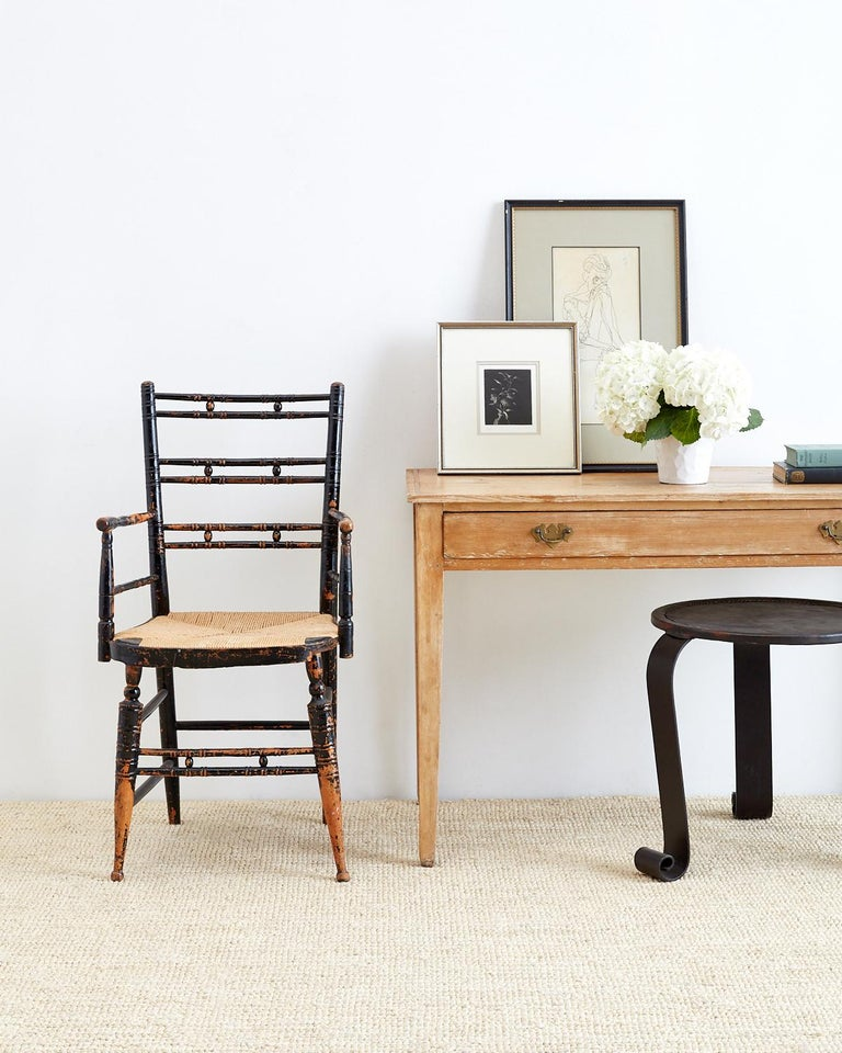 19th Century American Pine Writing Table Desk For Sale 7