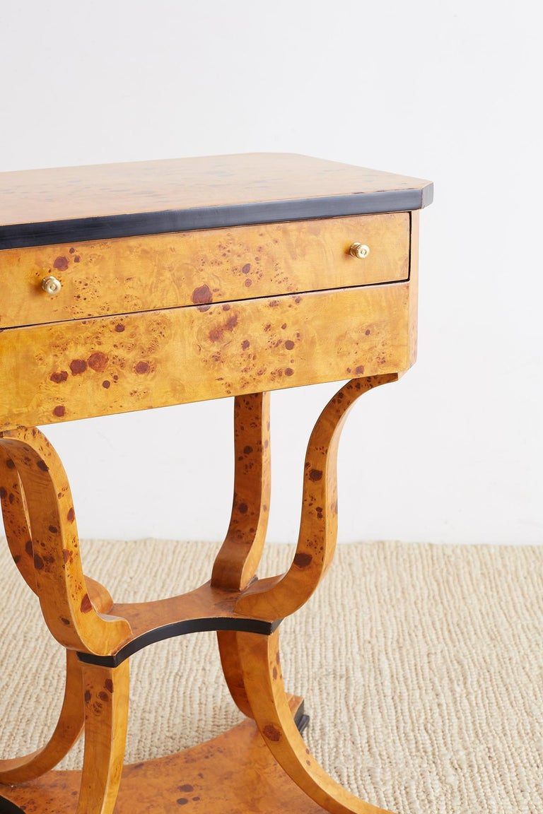 Birch Pair of Swedish Biedermeier Sewing Table or Nightstands For Sale