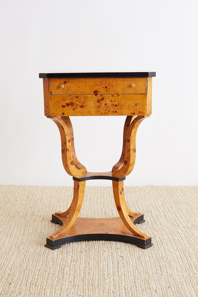 Pair of Swedish Biedermeier Sewing Table or Nightstands For Sale 3