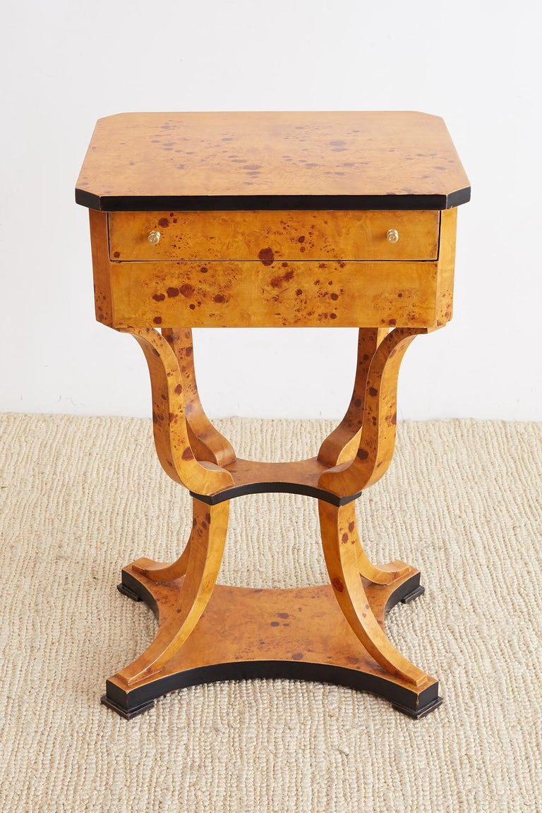 Pair of Swedish Biedermeier Sewing Table or Nightstands For Sale 4