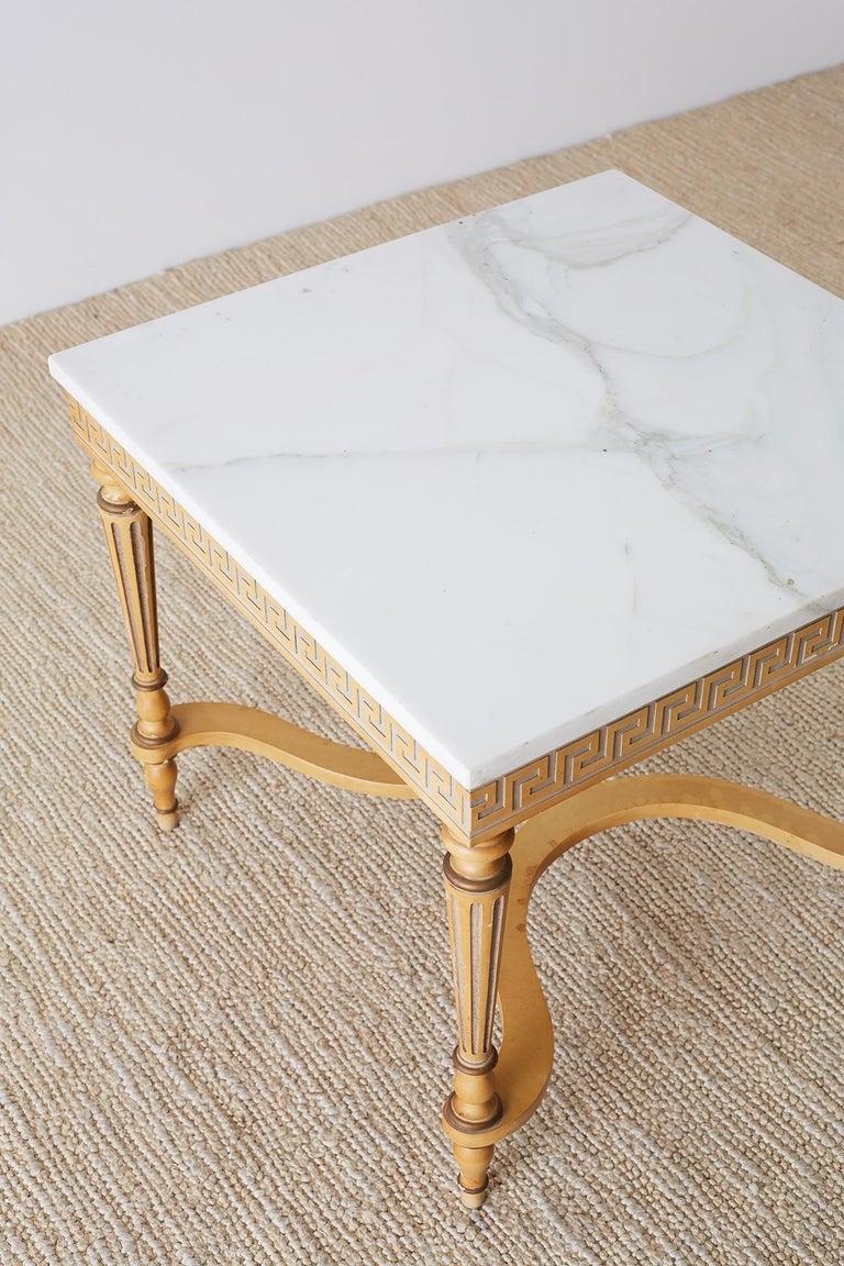 Italian Neoclassical Carrara Marble-Top Table For Sale 1