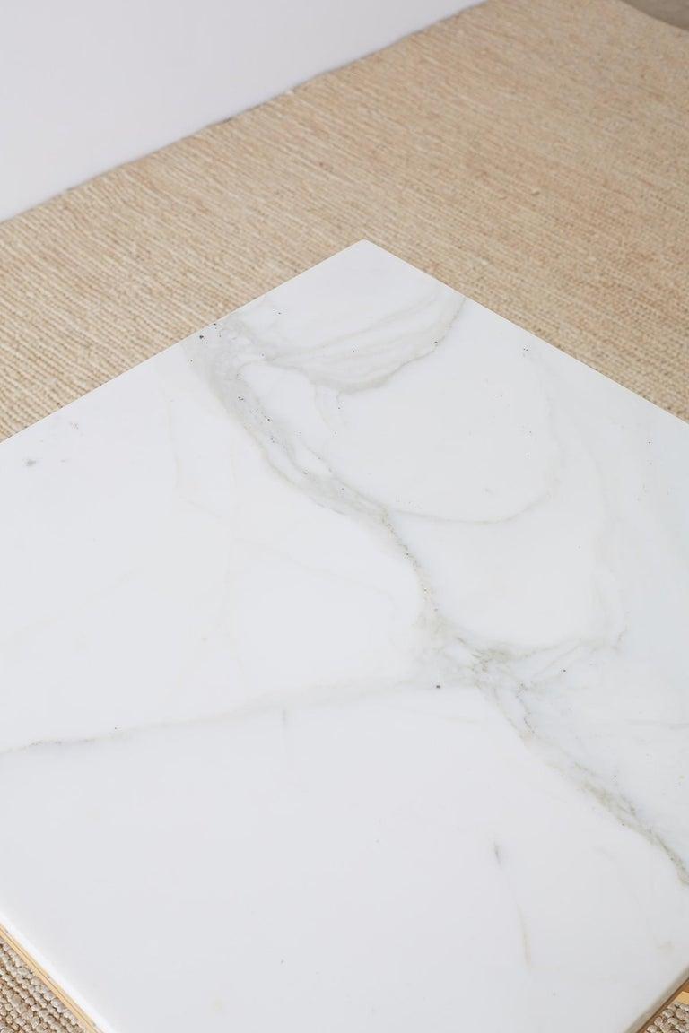 Italian Neoclassical Carrara Marble-Top Table For Sale 2