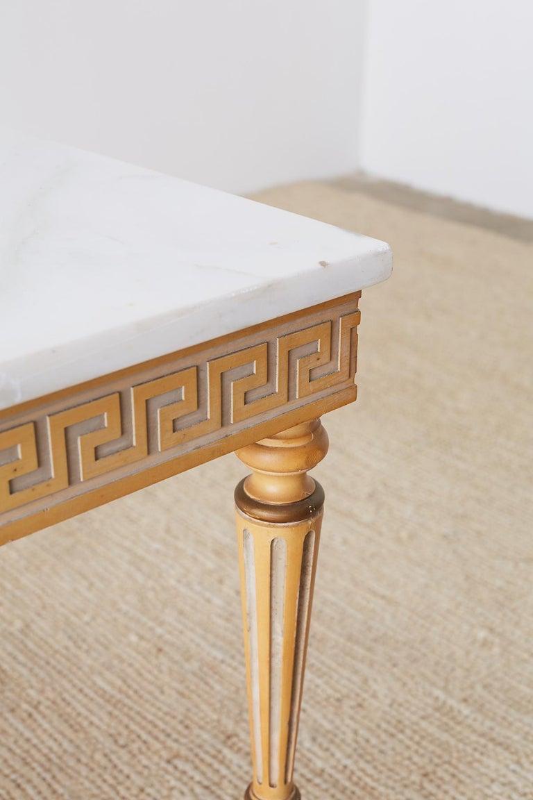 Italian Neoclassical Carrara Marble-Top Table For Sale 4