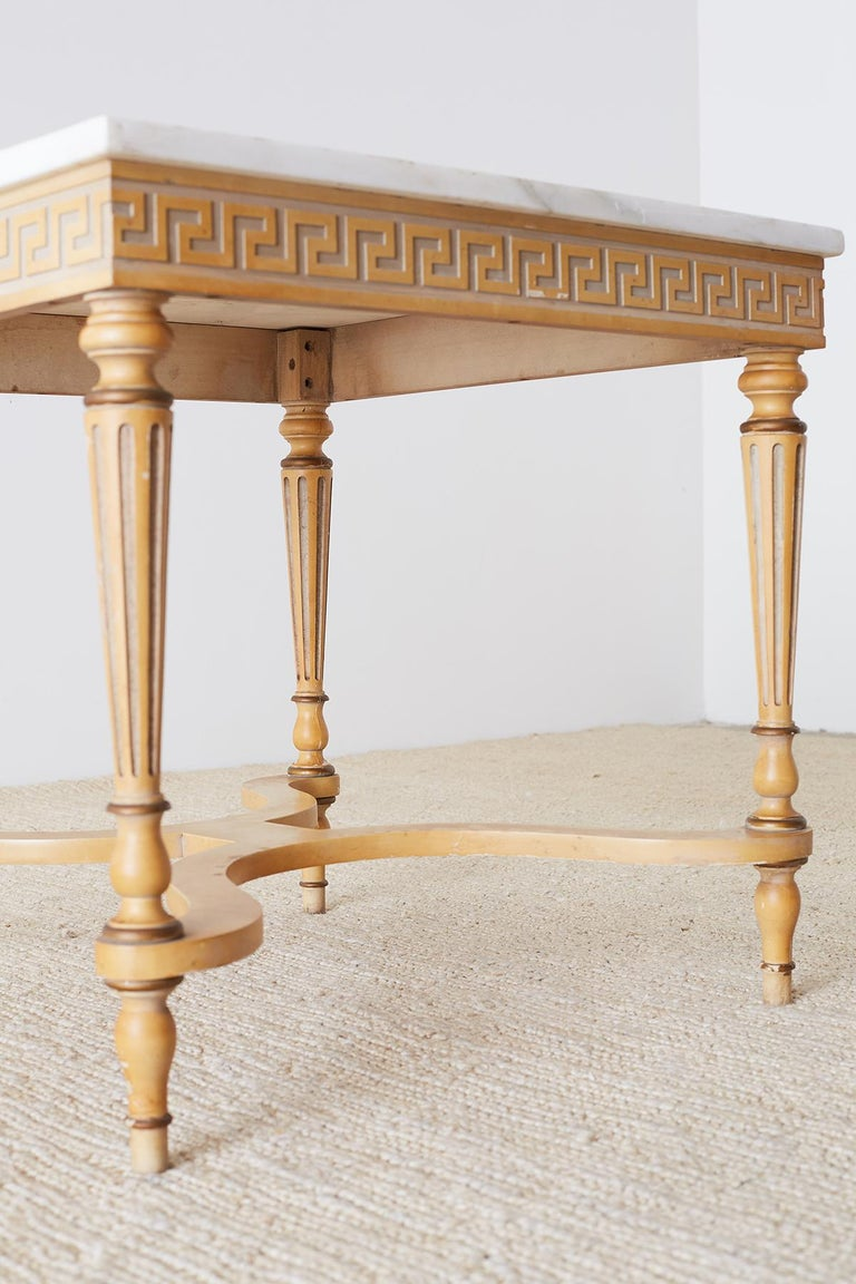 Italian Neoclassical Carrara Marble-Top Table For Sale 5