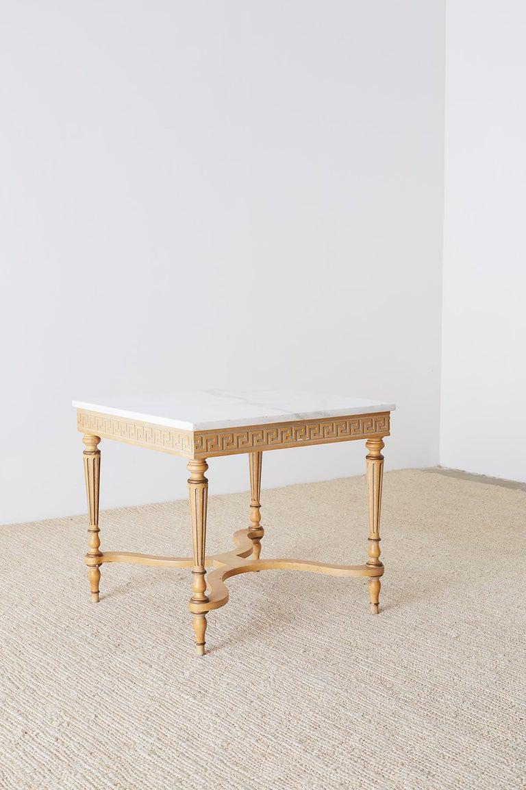 Italian Neoclassical Carrara Marble-Top Table For Sale 6