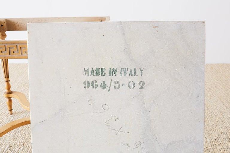 Italian Neoclassical Carrara Marble-Top Table For Sale 7
