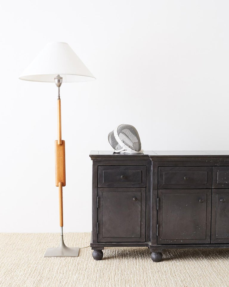 Zinc Metal Wrapped Sideboard Credenza or Buffet For Sale 13