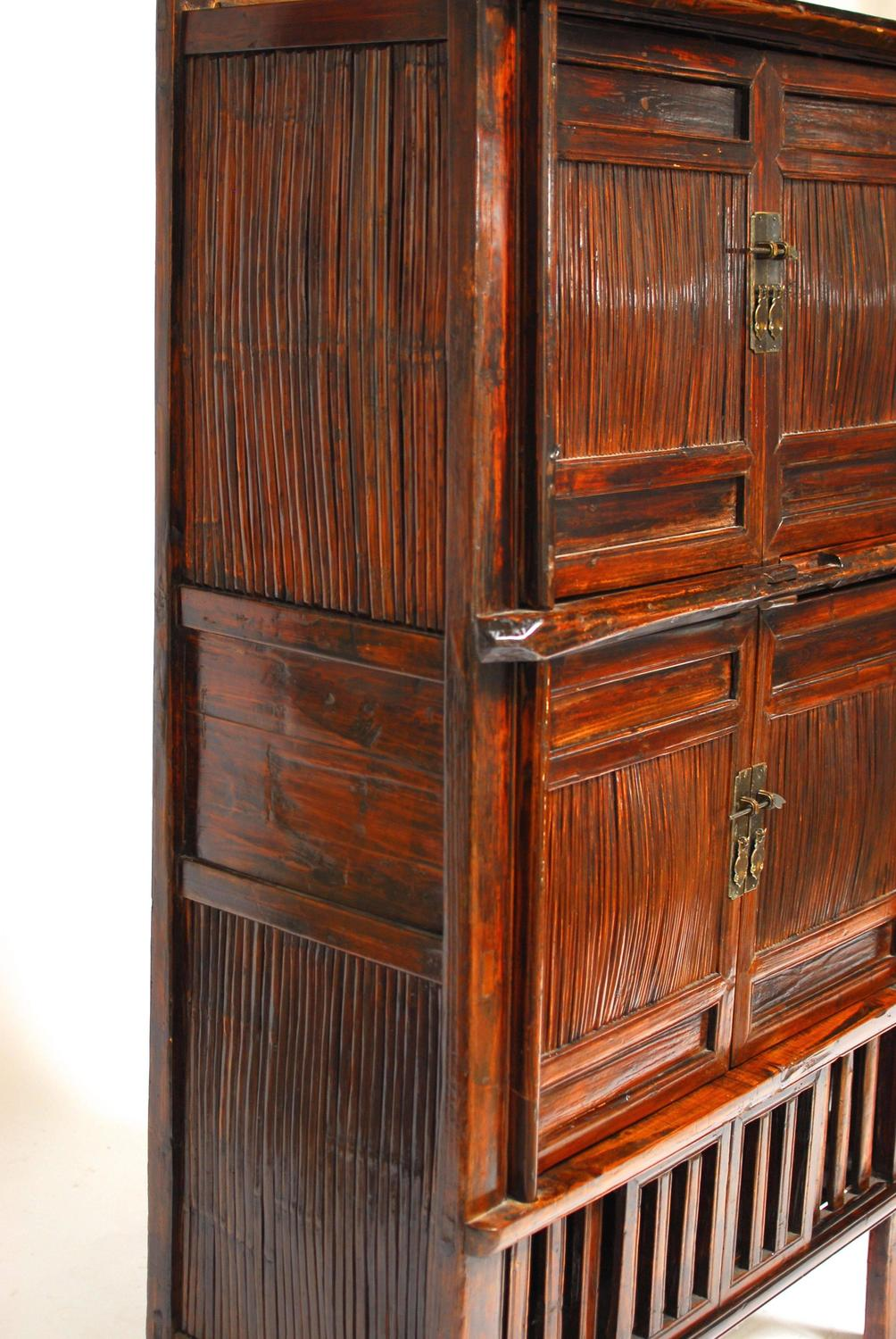Chinese bamboo kitchen cabinet for sale at 1stdibs for Bamboo kitchen cabinets