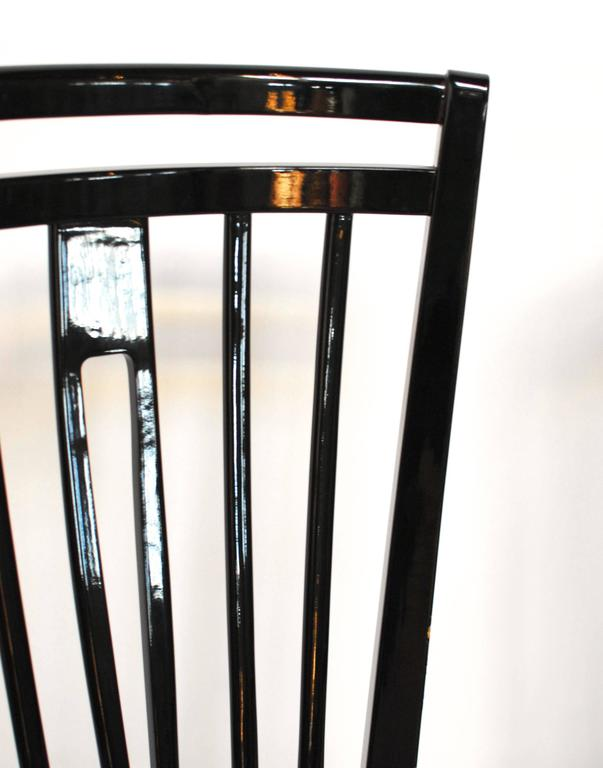 Italian Black Lacquer Dining Chairs At 1stdibs