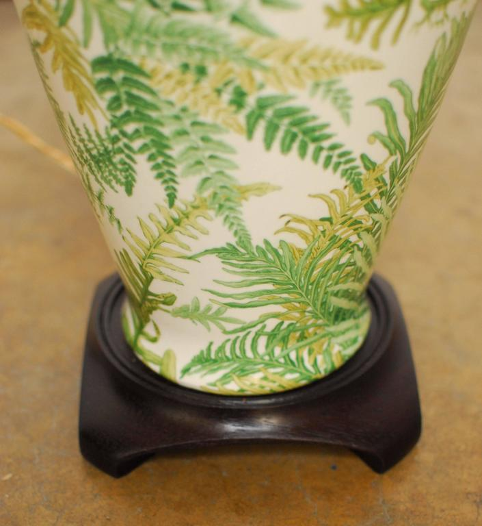 Decalcomania Banana Leaf Ginger Jar Lamp At 1stdibs