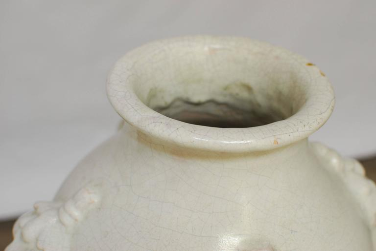 Pair of Italian Earthenware Pottery Jars For Sale 1